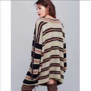 Free people sid striped tunic sweater